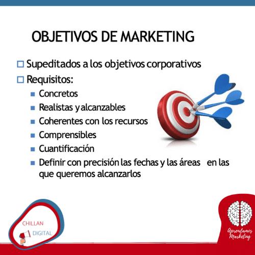 objetivos de un plan de Marketing
