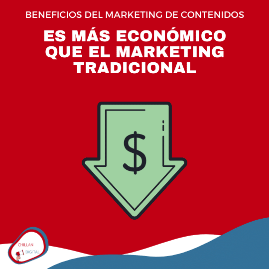 es mas económico BENEFICIOS DEL MARKETING DE CONTENIDOS 1