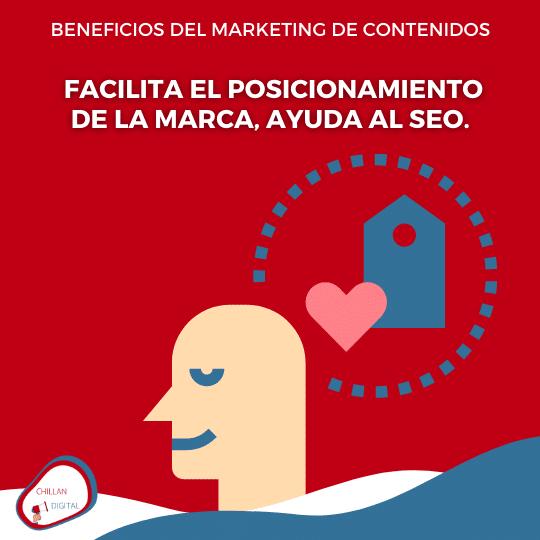 mejora el posicionamiento BENEFICIOS DEL MARKETING DE CONTENIDOS 5