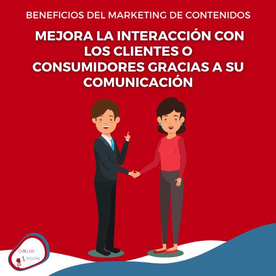 mejora la comunicación BENEFICIOS DEL MARKETING DE CONTENIDOS 7
