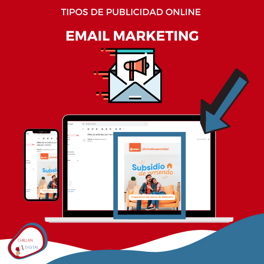 tipos y formatos de publicidad online para empresas 2020 Email Marketing