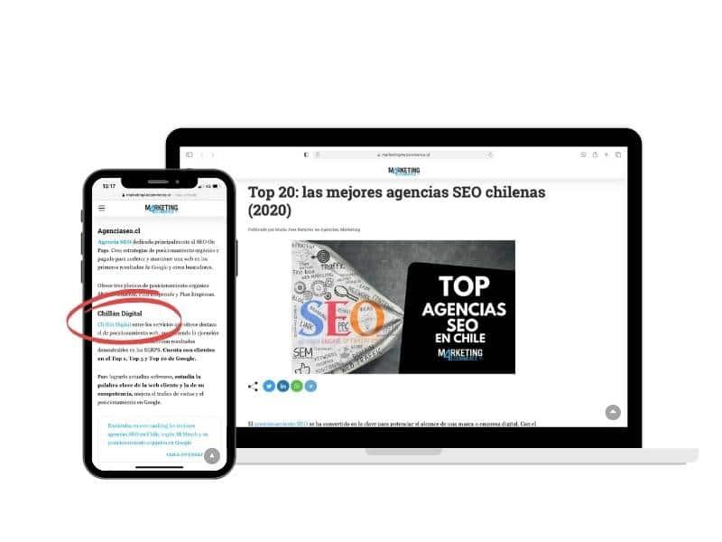 La mejor Agencia de posicionamiento Web en Chile 2021 según la prensa