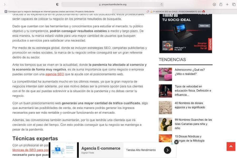 La Mejor empresa de posicionamiento SEO en Chile 5