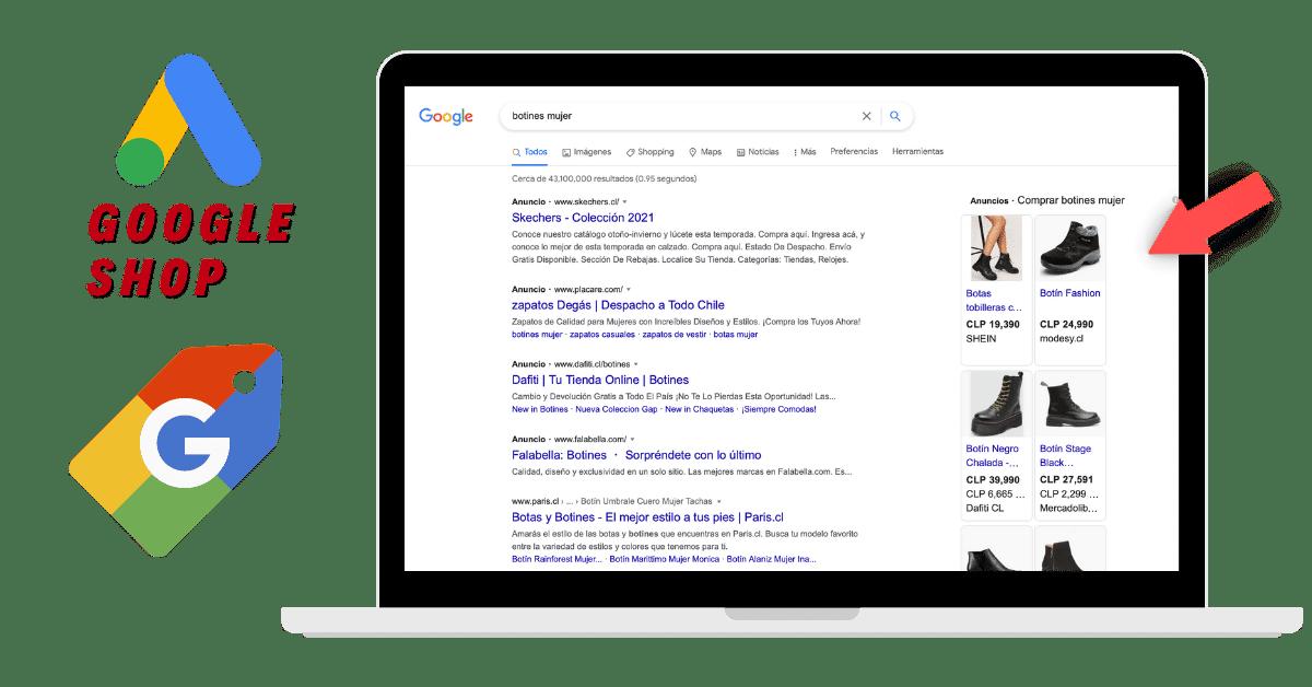 Publicidad online Google Shop